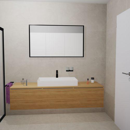Minimalistická kúpeľňa